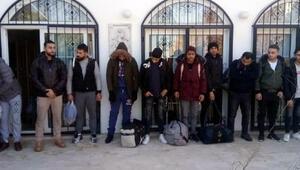 Didimdeki bir evde 23 kaçak göçmen yakalandı