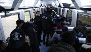 İstanbul treninde, 40 kaçak yakalandı