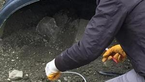 Başkalede menfeze tuzaklanan patlayıcı imha edildi