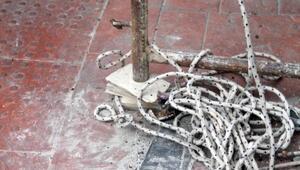 İş güvenliği hiçe sayıldı, fayans üzerine iskele kuruldu