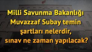 MSB Muvazzaf Subay temin şartları belli oldu | Yazılı sınav ne zaman yapılacak
