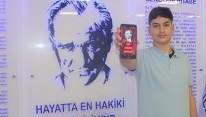 8'inci sınıf öğrencisinden mobil 'Atatürk' ansiklopedisi