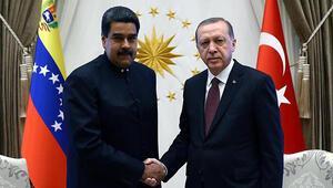 Cumhurbaşkanı Erdoğan Maduro ile görüştü