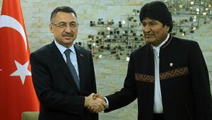 Cumhurbaşkanı Yardımcısı Fuat Oktay, Bolivya Devlet Başkanı ile görüştü