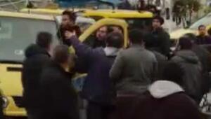 Taksim Meydanında korna kavgası Ortalık birbirine girdi
