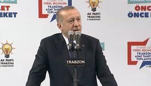 Cumhurbaşkanı Erdoğandan Trabzonda önemli mesajlar