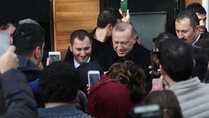 Cumhurbaşkanı Erdoğandan sürpriz ziyaret Vatandaşlar yoğun ilgi gösterdi