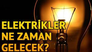 Elektrikler ne zaman gelecek 5 Şubat elektrik kesintisi programı