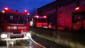 Tuzlada fabrikada yangın