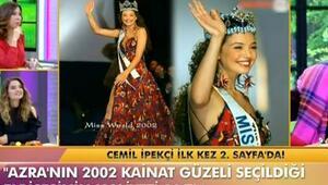 Azra Akının 2002 güzellik yarışmasında giydiği elbise nedir