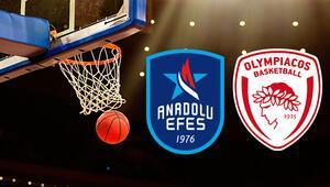 Anadolu Efes Olympiakos maçı ne zaman saat kaçta hangi kanalda