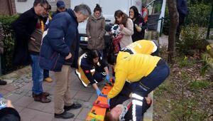 Çarptığı kadını yaralı görünce gözyaşlarını tutamadı