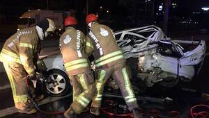 Son dakika: E-5te zincirleme trafik kazası Bir kişi öldü, 4 kişi de yaralandı