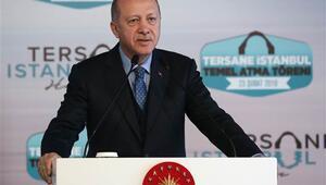 Son dakika: Cumhurbaşkanı Erdoğan, Tersane İstanbulun temel atma töreninde konuştu