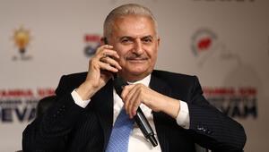 Binali Yıldırım Şansımızı deneyelim diyerek konuşma sırasında Cumhurbaşkanı Erdoğanı aradı