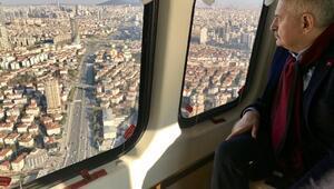 Binali Yıldırım İstanbulu havadan inceledi