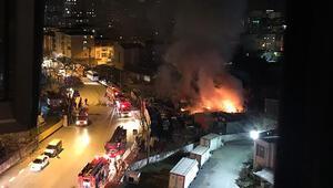 İstanbulda hareketli anlar... Yangın çıktı patlama sesleri yükseldi