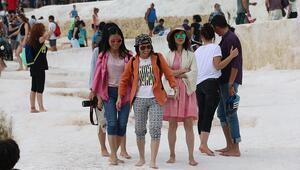 Pamukkaleye 2019un ilk iki ayında 132 bin turist