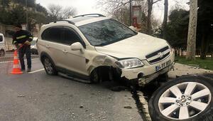 Eyüpsultan'da kaza yapan sürücü olay yerinden kaçtı