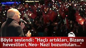 Erdoğan yolumuzdan alıkoyamazlar dedi ve tek tek saydı
