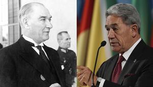 Son dakika... Yeni Zelanda Dışişleri Bakanı Winston Peterstan Atatürk mesajı