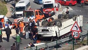 Down sendromlu öğrencileri taşıyan minibüs kaza yaptı  Akıllı saatle ailesine bildirmiş: Gelin beni kurtarın