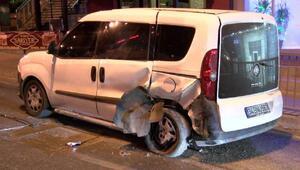 Beylikdüzünde otomobil takla attı: 1 yaralı