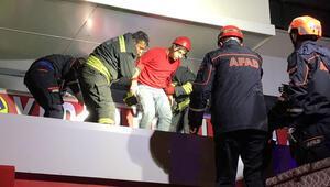 Konyada marketin asma tavanı çöktü