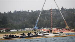Okinawa Adasında ABD üssünün inşasına başlandı