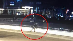 Ankarada korkunç görüntü Karısını kucaklayıp aşağı attı...
