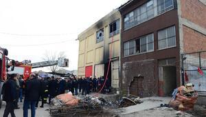 Beş işçi yangın kurbanı