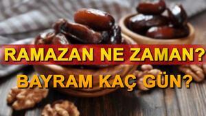 Ramazan ayına kaç gün kaldı 2019 Ramazan Bayramı başlangıç tarihi