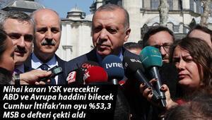Son dakika… Cumhurbaşkanı Erdoğan: Seçim süreci bitmiştir. Şimdi olayın mahkeme süreci var