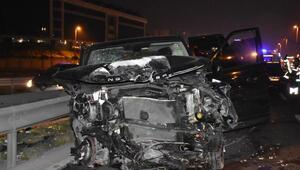 D100de zincirleme trafik kazası: 2 yaralı