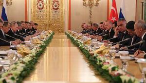Son dakika... Moskova'da kritik toplantı Erdoğan ve Putinden önemli mesajlar