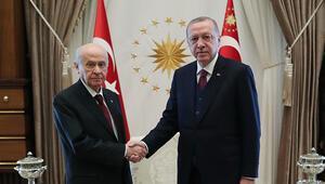 Son dakika: Cumhurbaşkanı Erdoğan ile Devlet Bahçelinin görüşmesi sona erdi