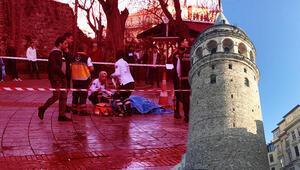 Şoke eden olay Galata Kulesinden bir kadın atladı