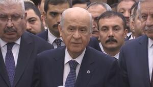 MHP lideri Devlet Bahçeli, mazbata tezahüratına ilişkin açıklama yaptı