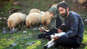 Genç Çiftçi projesiyle 20 koyun alan lise mezunu çift çobanlık yapıyor
