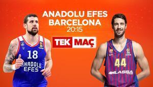 Dört gözle bekleniyordu Anadolu Efes - Barcelona TEK MAÇ oldu...