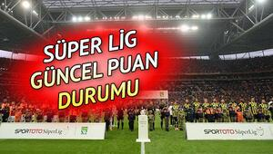 Süper Ligde puan durumu nasıl şekillendi 29. hafta sonuçları