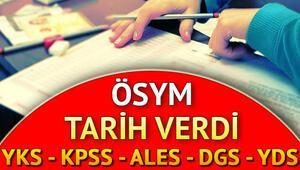 YKS - KPSS - ALES - DGS - YDS sınav takvimi | ÖSYM 2019 sınav programı