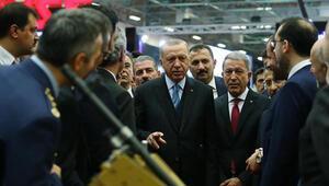Cumhurbaşkanı Erdoğan 14. Uluslararası Savunma Sanayi Fuarını gezdi