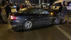 Maltepede 12 aracın karıştığı zincirleme kaza: 2 yaralı