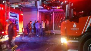 Zeytinburnunda müzik aletleri satan iş yerinde yangın