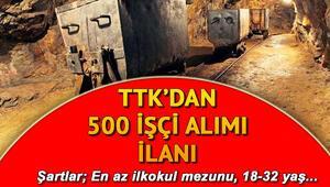 Türkiye Taşkömürü Kurumu (TTK) 3 ilde 500 işçi alımı yapacak