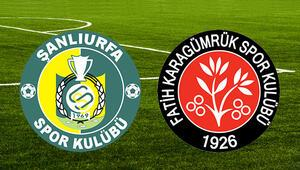 Şanlıurfaspor - Fatih Karagümrük: 0-1