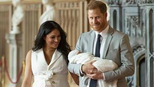 Prens Harry ve Meghan Markleın bebeğinin ilk fotoğrafları