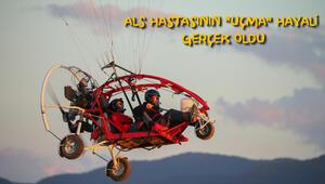 ALS hastasının uçma hayali gerçek oldu