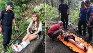 Kanyonda mahsur kalan Rus turist için seferber oldular